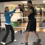 Boxing with Chargers wide receiver Vincent Jackson for NBC