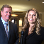 NFL Commissioner Roger Goodell and I for an NBC segment