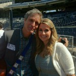 Sharon Heilbrunn and Steve Poltz at Padres game